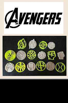 Marvel The Avengers Cake Decoration Cookie cutters fondant Topping UK seller