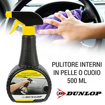 Pulisci Cruscotto Per Auto 500 ML Detergente Spray Interni Plastica Dunlop