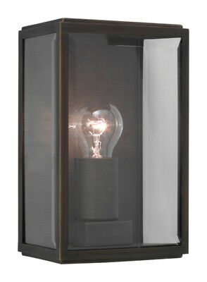 Astro Homefield 562 Bronze With Clear Glass IP44 60W Exterior Garden Wall Light
