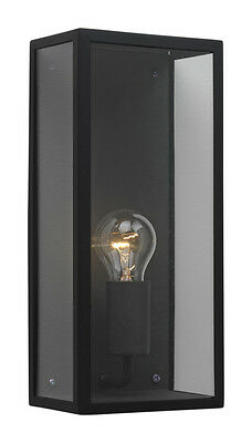 Astro Messina 866 Black With Clear Glass Contemporary Outdoor Wall Light IP44