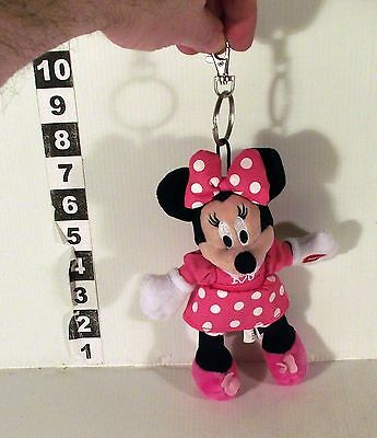 """7"""" Kissing Sound Minnie Mouse Soft Toy With Keyring / Bag Hanger"""