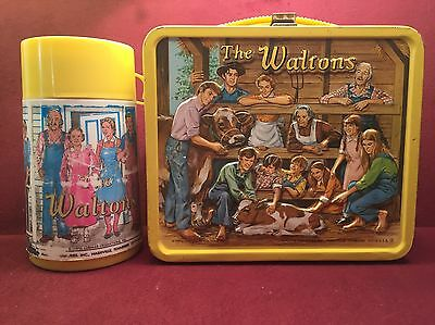 VINTAGE THE WALTONS LUNCHBOX & THERMOS (1973) TV SHOW Aladdin Industries