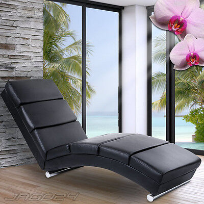 Faux Leather Relax Lounger Sofa Chair Daybed Soft Padded Conservatory Furniture