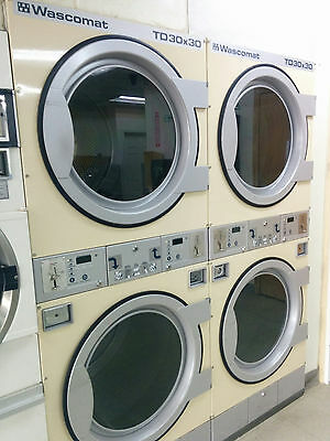 Wascomat TD30X30 Stack Dryers for Coin Laundromat