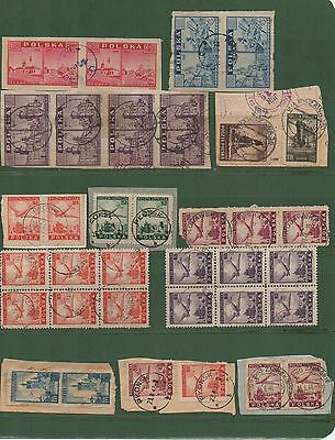 POLAND Lot of 35 stamps used