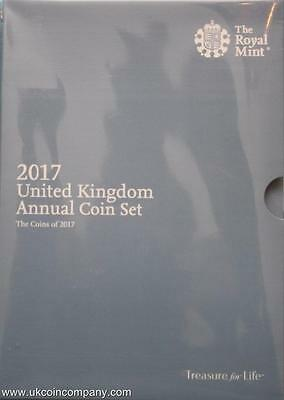 2017 Annual Coin Set United Kingdom Brilliant Uncirculated By The Royal Mint