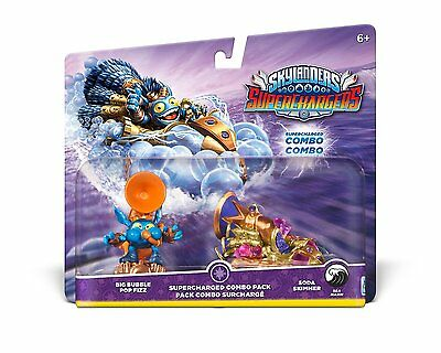 Skylanders Superchargers * Supercharged Combo Pack New * Pop Fizz + Soda Skimmer