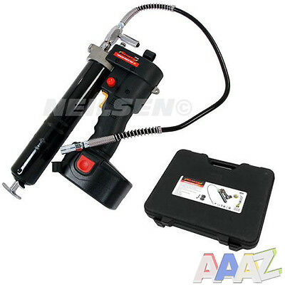 Professional Cordless 18 V Grease Gun 1Hr Fast Charge 2 X Batteries 8000 Psi