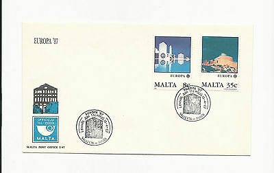 Malta ( Europa ) 1987  Set of 2 Stamps on First Day cover