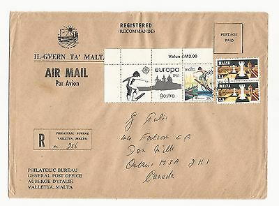 Malta ( Cover to Canada  ) Montreal-Toronto-Don Mills Cancels