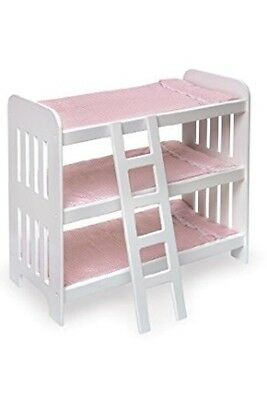 American Girl Bed, Fits Other 20 Inch Dolls. Triple Bunk Bed
