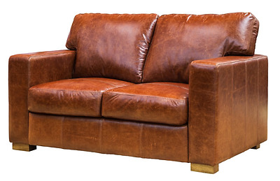 Cresta - 2 Seater Sofa - Full Old West Leather - Warehouse Clearance! BRAND NEW