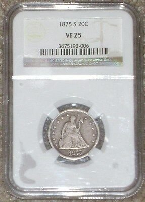 1875-S Twenty Cent Piece NGC VF25