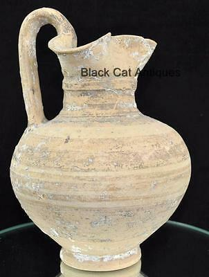 "Private Collection Authentic 8.5"" Etruscan Water Jug Vessel  600 BC Pre Roman"