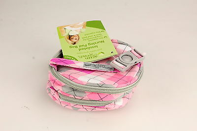 Insulated Nursing Pad Bag, Pink, by Green Sprouts, Free of BPA & PVC, Zipper New
