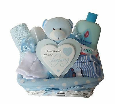 Baby Gift Hamper/ Basket Boy. Baby Hamper Boy.Baby Shower Gift .Nappy Cake Boy