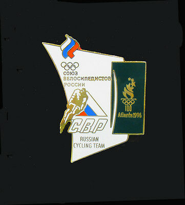 Russian Cycling Team Badge Pin - Cycling Events - Atlanta Summer Olympics