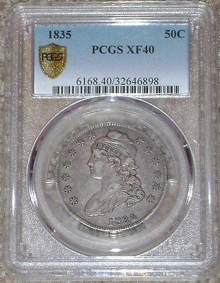 1835 Capped Bust Half PCGS XF40