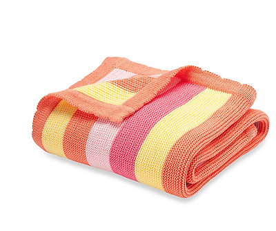 "Elegant Baby 0915 Bright Stripes Blanket in Raspberry Sz 30""X40"""
