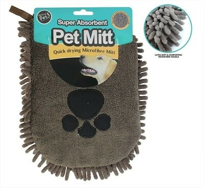 World of Pets Microfibre Pet Mitt with Ultra Soft Quick Dry Comforting Material
