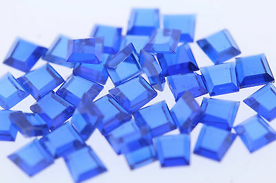 Lot of 37 Tapered Princess Trapezoid Baguette Lab Created Blue Sapphires 5.79ctw