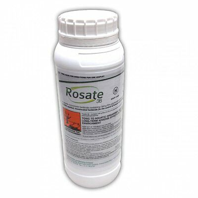 1 Litre Rosate 36 Weedkiller Very Strong Glyphosate Weed killer FREE Gloves