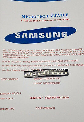 Samsung Lumens  D2Ge-320Sc1-R0 D2Ge-320Sc0-R3  10 Piece Flip Led Repair Kit