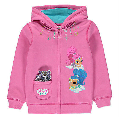 George Girls Official Licensed Shimmer And Shine Hoodie Hoody Jacket