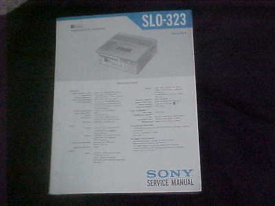 Sony Service Manual For SLO-323 Videocassette Recorder