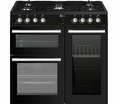 BRAND NEW FLAVEL MLN9FRK 90 cm Dual Fuel Range Cooker - Black