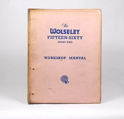 WOLSELEY 1550 & 1660  WHS1 BMC SERVICE / WORKSHOP MANUAL  Issue 3 38737