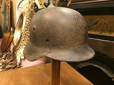 World War 2 German Helmet With Signs Of Camouflage Paintwork. Open To Offers.