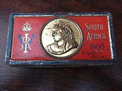 Boer War Queen Victoria South Africa 1900 Chocolate Tin