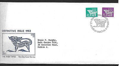 1982        FDC    DEFINITIVES   26, 29p        Irish Times
