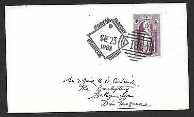 1963       POSTAL HISTORY EXHIBITION CANCEL ON  8d St PATRICK     Plain