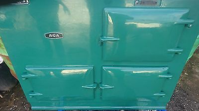 Aga solid fuel cooker 2 oven in green