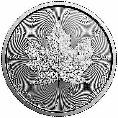 2017 - $50 1oz Platinum Canadian Maple Leaf .9995