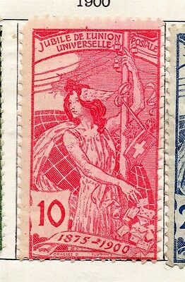 Switzerland 1900 Early Issue Fine Mint Hinged 10c. 129544