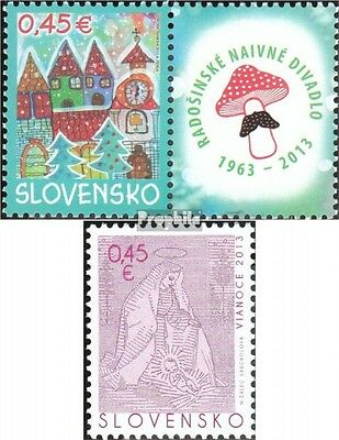 Slovakia 720Zf with zierfeld,722 (complete.issue.) unmounted mint / never hinged