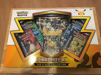 Pikachu Ex Red And Blue Collection Box Pokemon Cards