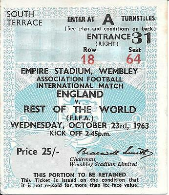 Ticket England v Rest of the World 1963