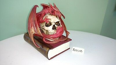 Design Toscano Blood Dragon Contemplation Sculptural Trinket Jewelry Box Statue!