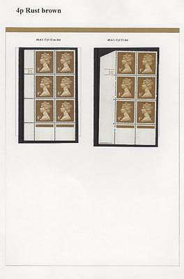 SPECIALISED COLLECTION OF UNMOUNTED MINT 4p MACHINS