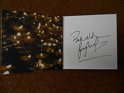 Gary Lineker Signed Charity Christmas Card Tottenham Hotspur Leicester England