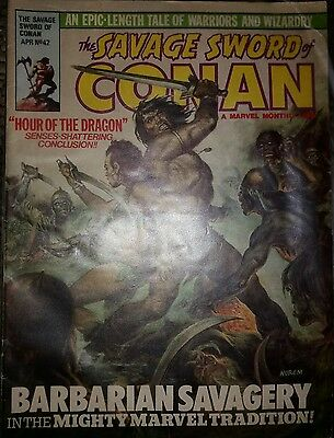 The SAVAGE SWORD of CONAN the BARBARIAN Comic - No 42 -  UK Marvel