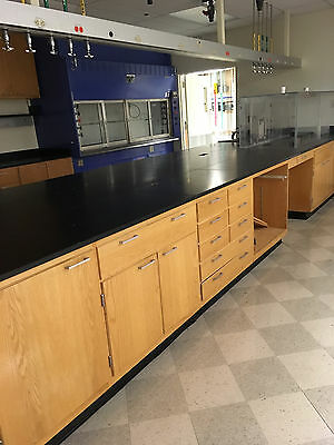 50' of Wood Laboratory Casework with Epoxy Resin Counter Tops