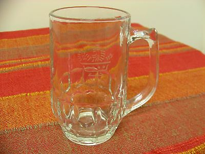 Beer Mug Half Pint 472 Tankard With Handle Etched Glass Ravenhead Barnasters