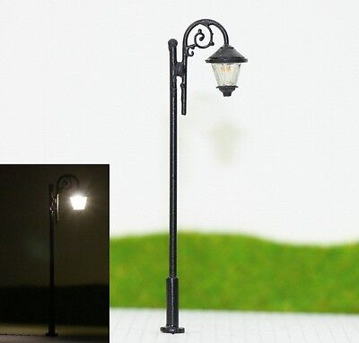 S105 - 10-pc Farola con LED 6,5cm Set Luces de estacionamiento nostálgico