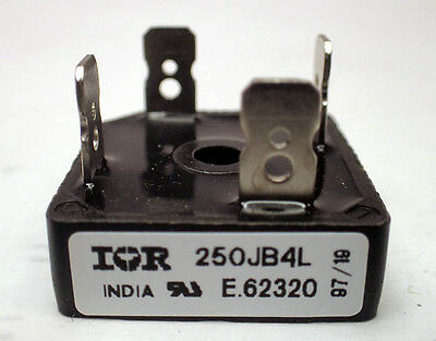 INTERNATIONAL RECTIFIER 250JB4L RECTIFIER BRIDGE 25A. TWO (2) PIECES offered.