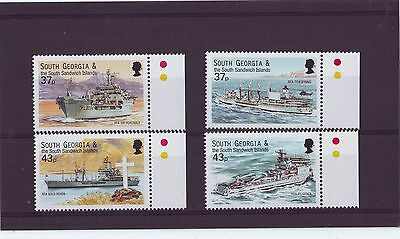 South Georgia & Ssi - Sg324-327 Mnh 2001 Royal Fleet Auxillary Vessels
